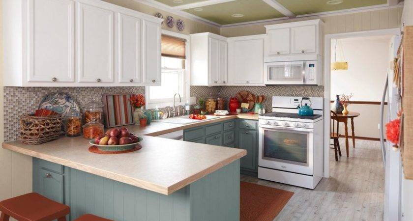 Kitchens Stylish Two Tone Cabinets