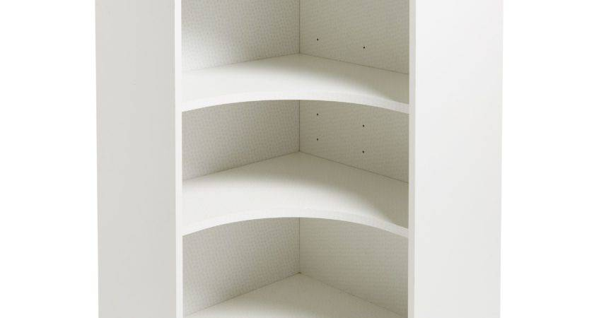 Kitchens White Curved Corner Tall Wall Cabinet