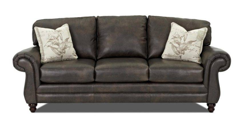 Klaussner Leather Sofa Valiant