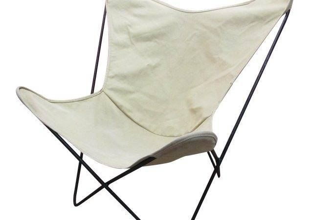Knoll Hardoy White Butterfly Chair Chairish