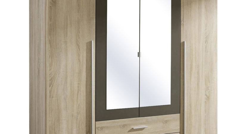 Krefeld Door Mirrored Wardrobe Sonoma Oak Carcass Next
