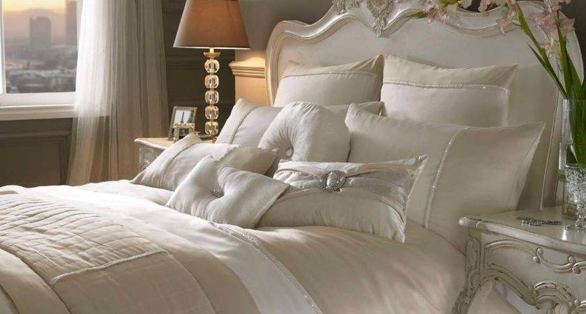 Kylie Minogue Bedding Yarona Gold Cream Bed Linen