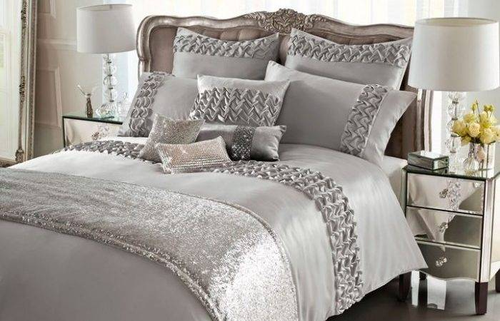 Kylie Minogue Ruffle Silver King Duvet Cover Within