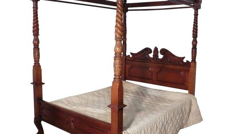 Large Mahogany Four Poster Bed Sale Stdibs