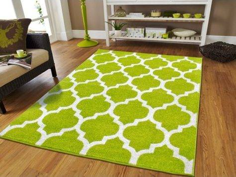 Large Modern Green Area Rug Bedrooms Rugs