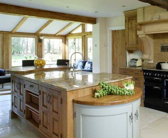 Large Open Plan Country Kitchen Kitchens Ideas