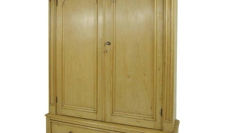 Large Pine Two Door Armoire Wardrobe Display Pantry