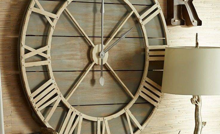 Large Primitive Wall Clocks