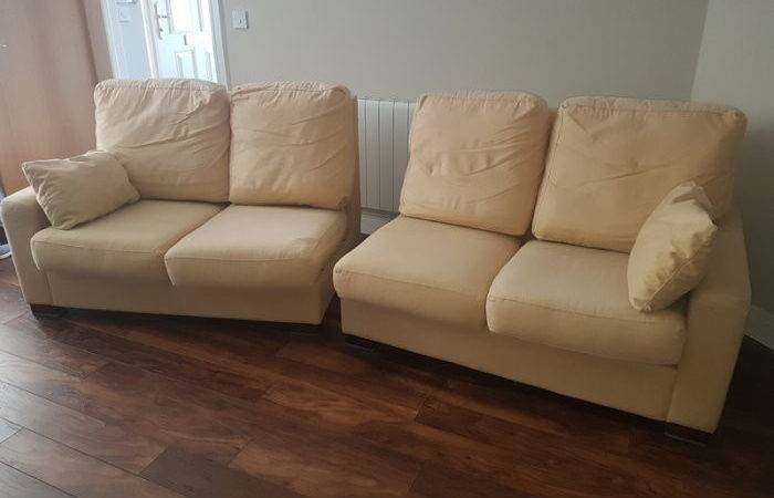 Large Very Comfortable Seater Creamgold Sofa