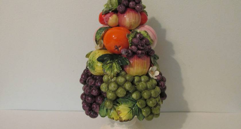Large Vintage Sorrento Arnart Fruit Topiary Centerpiece