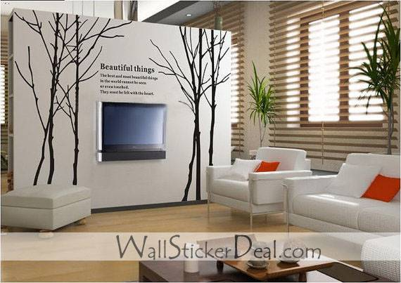 Large Winter Tree Wall Stickers Home Decorating