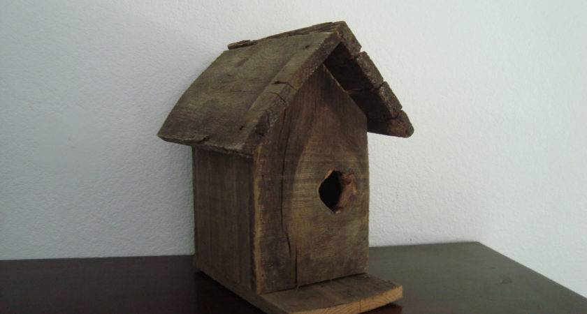 Large Wood Bird House Rustic Primitive Garden Art