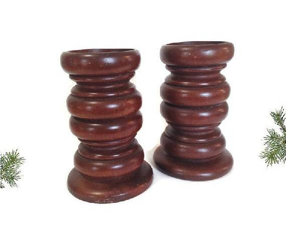 Large Wood Candle Holders Wooden Candlesticks