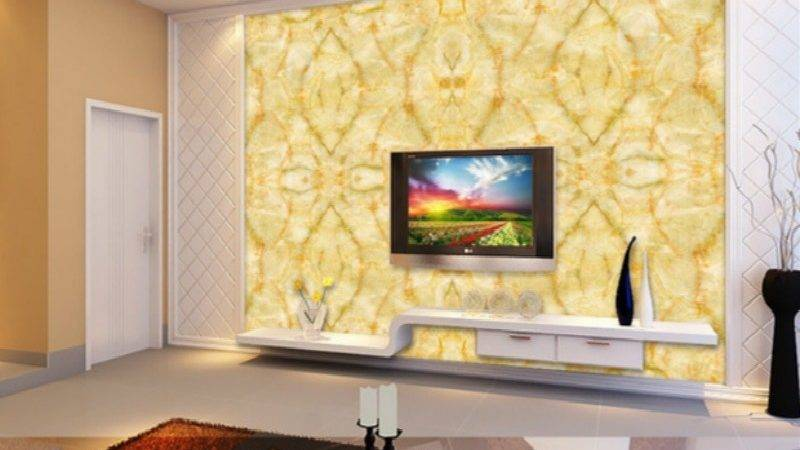 Large Yellow Marble Texture Design Mural