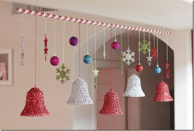 Last Minute Inexpensive Diy Hanging Christmas Decorations