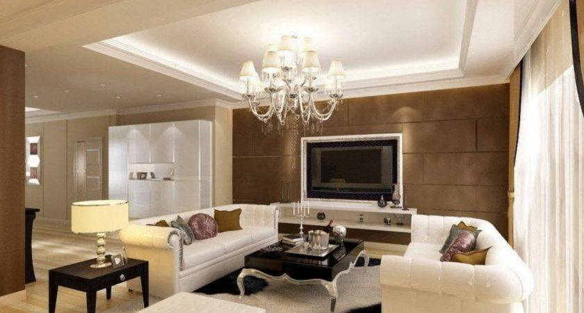 Latest Gypsum Board Ceiling Design Luxury Living Room