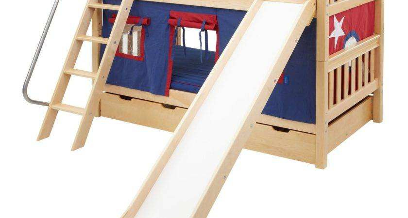 Laugh Boy Twin Over Slat Slide Tent Bunk Bed Kids