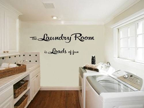 Laundry Room Decal Loads Fun Vinyl Wall