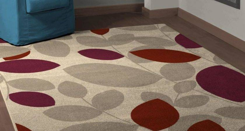 Leaf Pattern Rug Modern Living Room Olpos Design