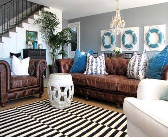 Leather Sofa Cushions Blue Living Room Furniture Ideas