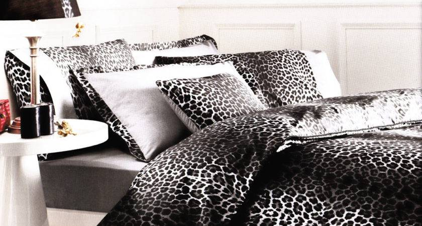 Leopard Bedding Grey Black White Piece Myveralinen