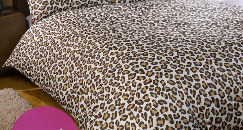 Leopard Chocolate Brown Classic Animal Print Duvet Quilt