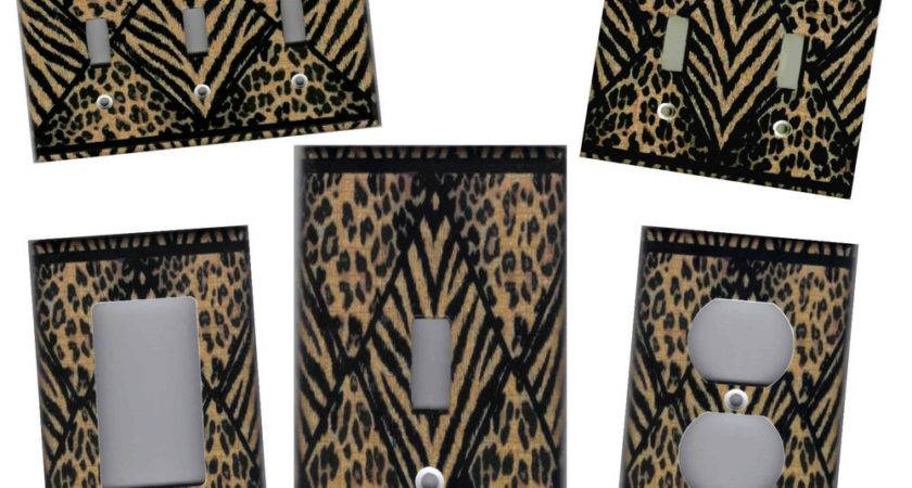Leopard Tiger Print Home Wall Decor Light Switch Plate