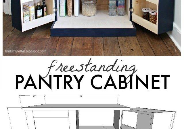 Letter Diy Freestanding Kitchen Pantry Cabinet