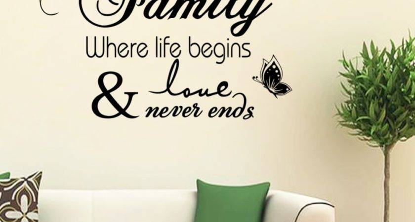Life Begin Quote Warm Happy Home Wall Decals