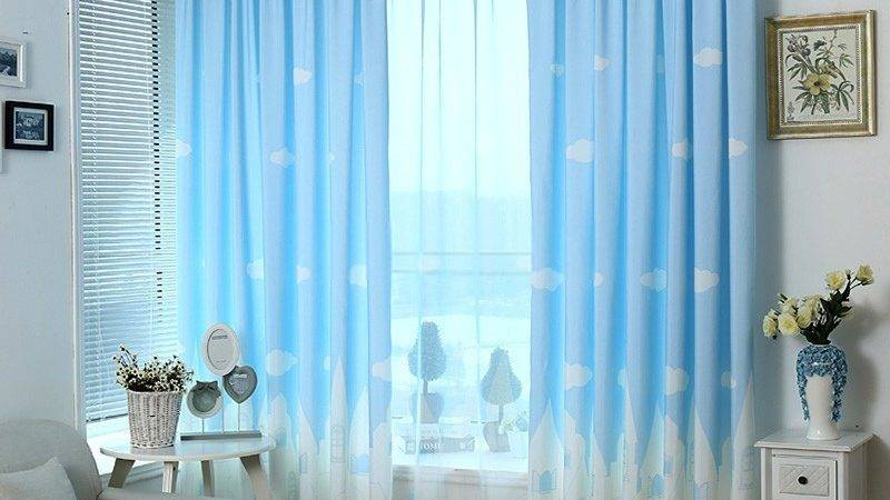 Light Blue Bedroom Curtains New Arrival