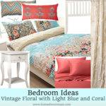 Light Blue Coral Bedroom Pixshark
