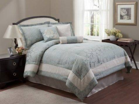 Light Blue White Comforters Bedding Sets
