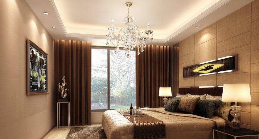 Light Brown Bedroom European Style House
