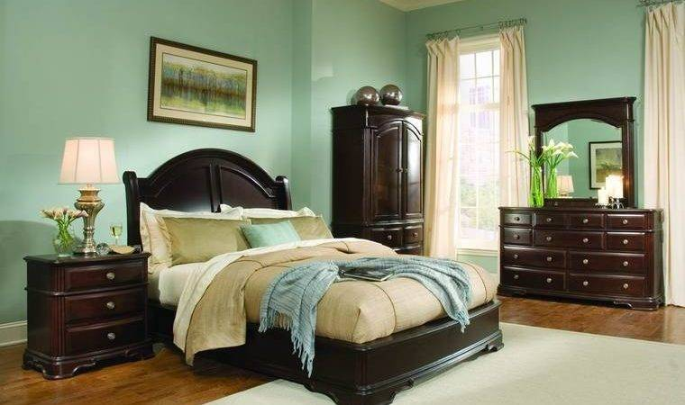 Light Green Bedroom Ideas Dark Wood Furniture