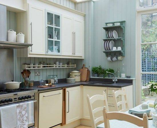 Light Green Traditional Kitchen