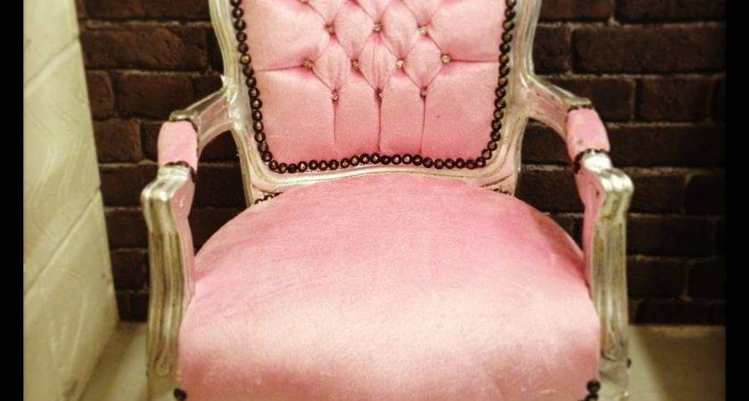 Light Pink Armchair Fancy Furniture Living Room