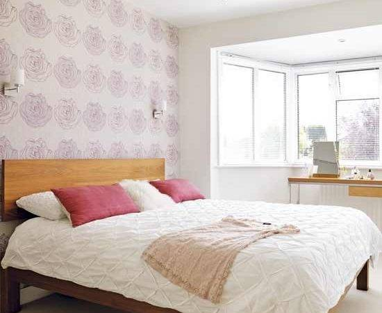 Light Pink Bedrooms Grasscloth