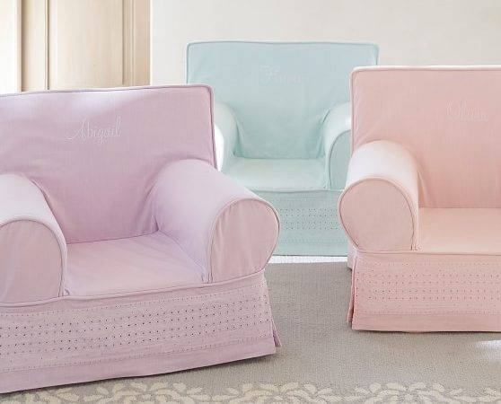 Light Pink Eyelet Anywhere Chair Pottery Barn Kids