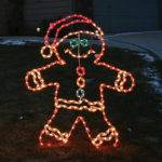 Lighted Outdoor Gingerbread Boy Frontgate