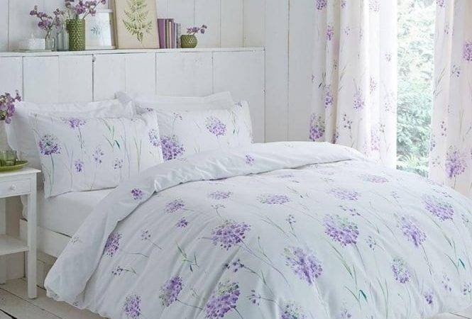 Lilac Floral Design Duvet Cover Set Charlotte Thomas