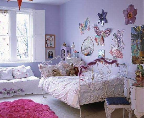 Lilac Kids Bedroom Step Inside Dramatic Open Plan