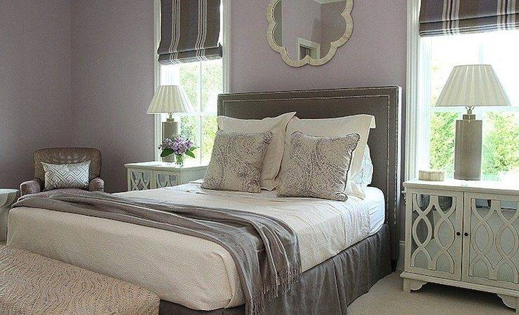 Lilac Pillow Contemporary Bedroom Apartment Therapy