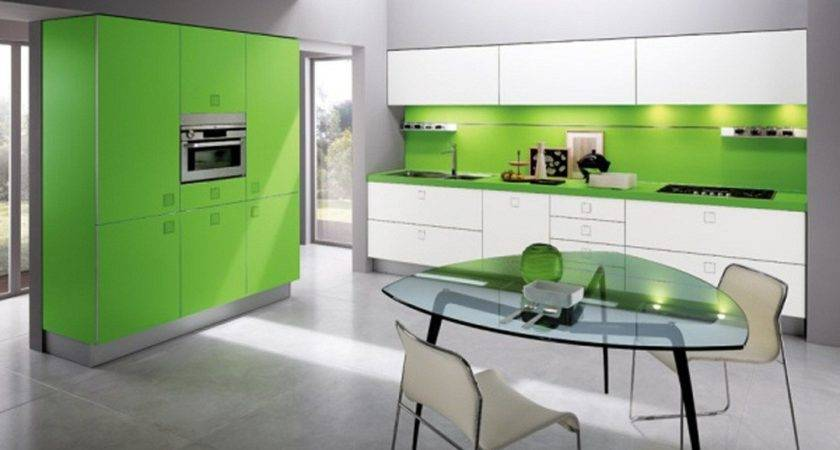 Lime Green Kitchen Interior Design Furniture Sweet