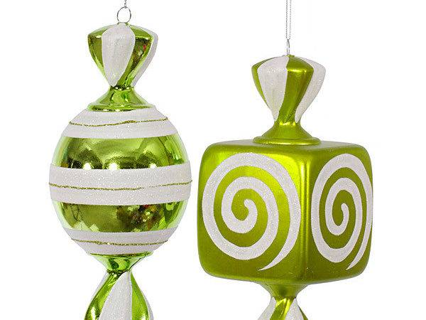 Lime Green Large Candy Ornaments Inch Piece Box