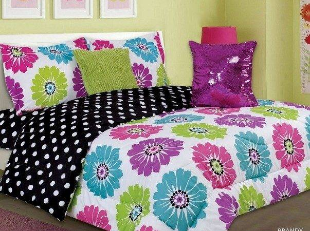 Lime Green Pink Bedding Bright Purple