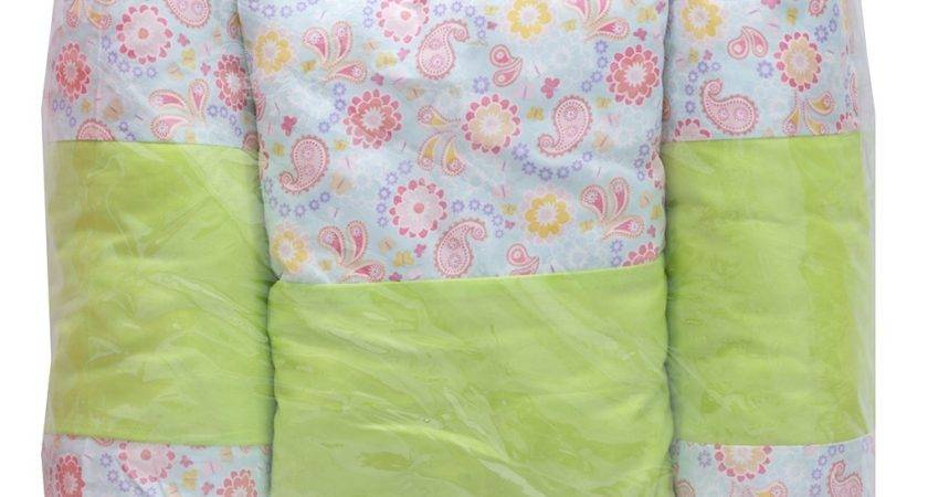 Lime Green Pink Printed Appliqu Cotton Baby