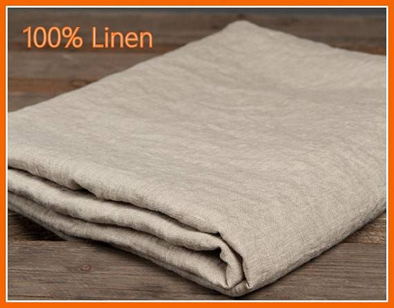 Linen Flat Fitted Bed Sheets Natural Grey