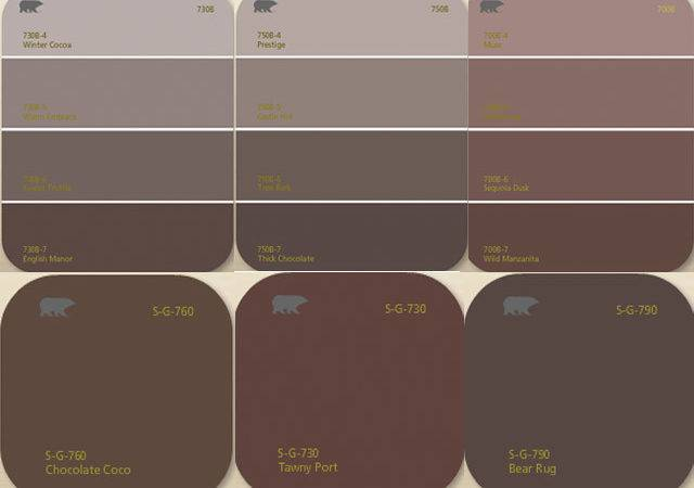 Living Color Shade Options Choosing Brown Paint