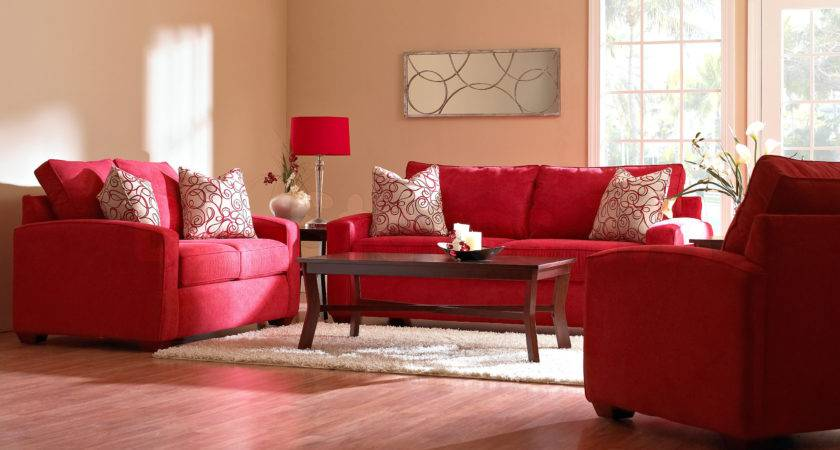 Living Room Amazing Red Decorating Ideas Leather Beautiful