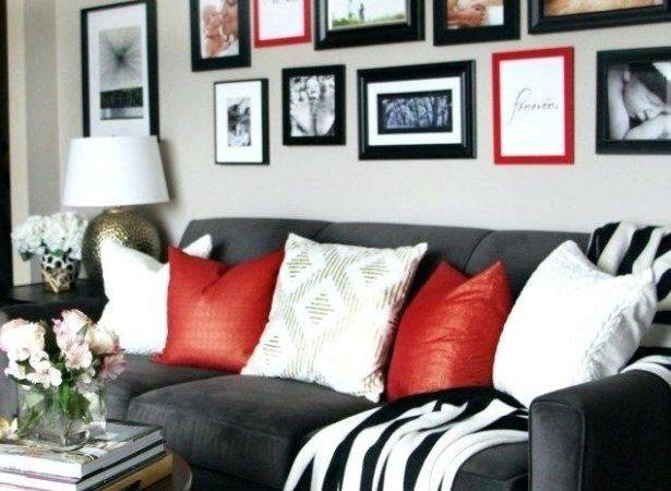 Living Room Appealing Black Red Ideas Grey